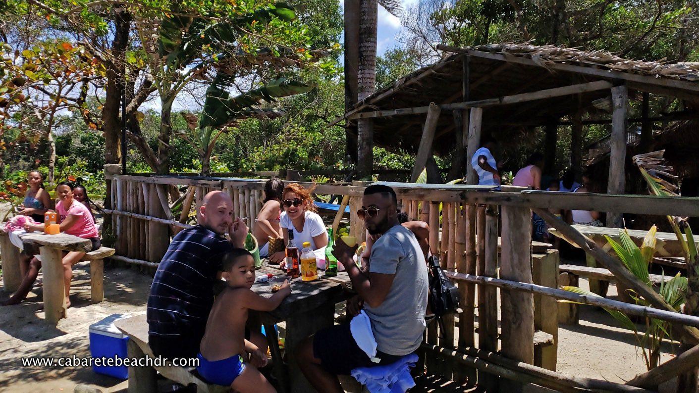 Visitors to La Boca