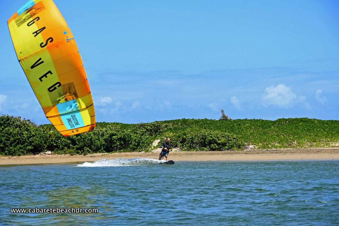 Kitesurfer close up in La Boca