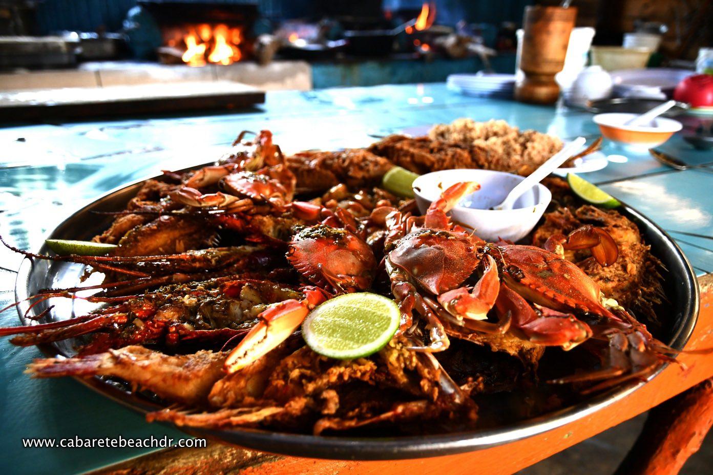 seafood at La Boca