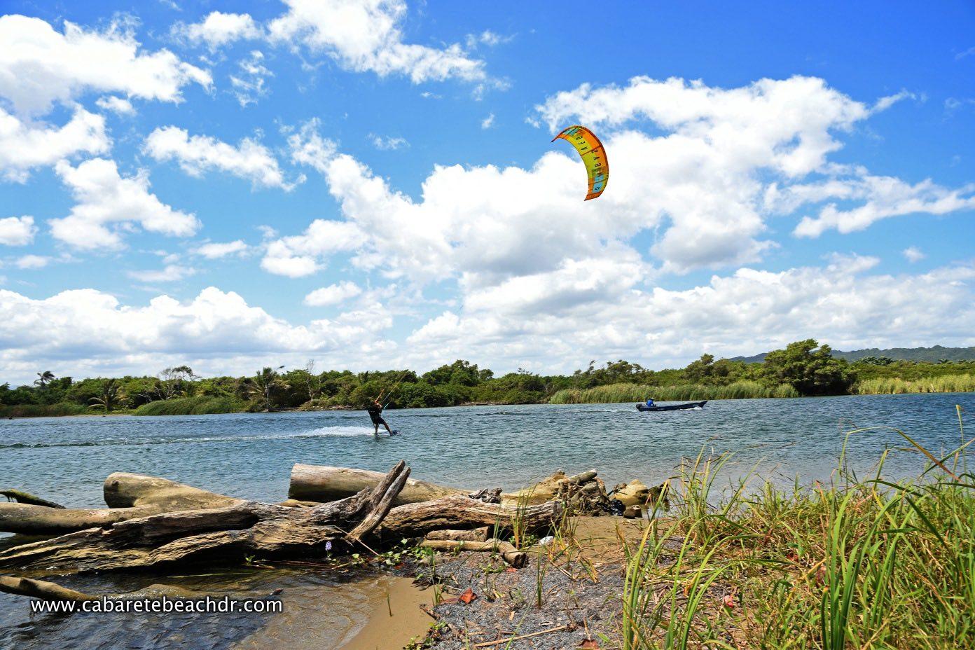Kitesurfer in La Boca