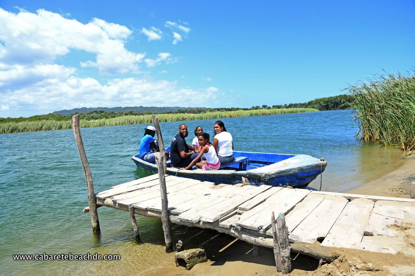 Visitors take the boat at La Boca