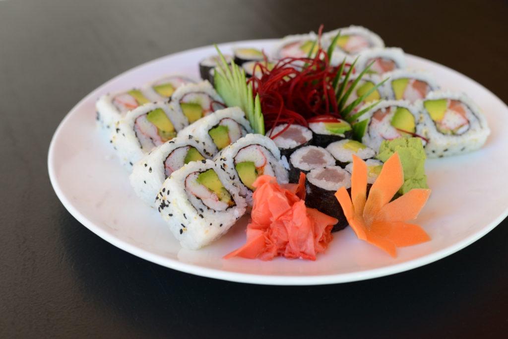 Sushi rolls at Yamazato Cabarete