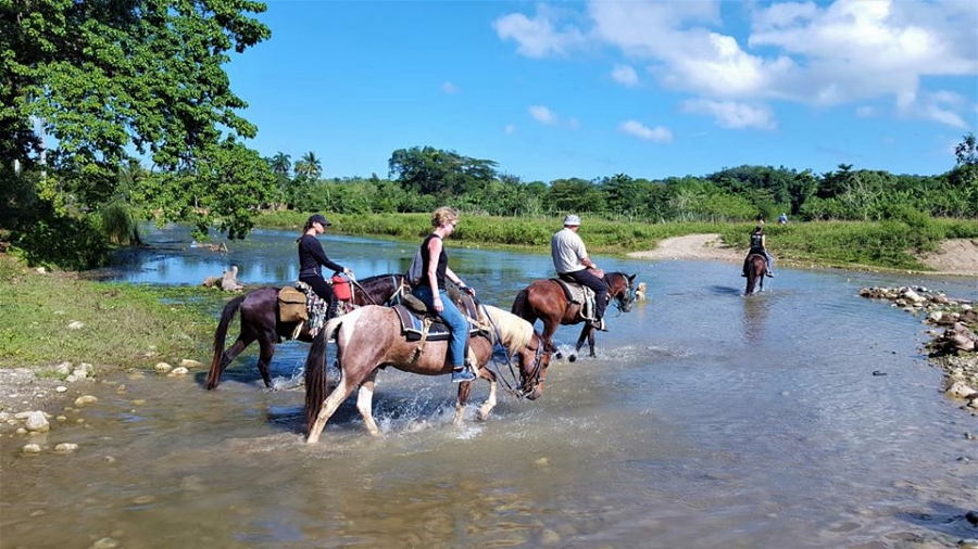 Riding in the Yasica River