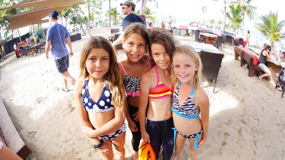 Little girls at the beach of Front Loop