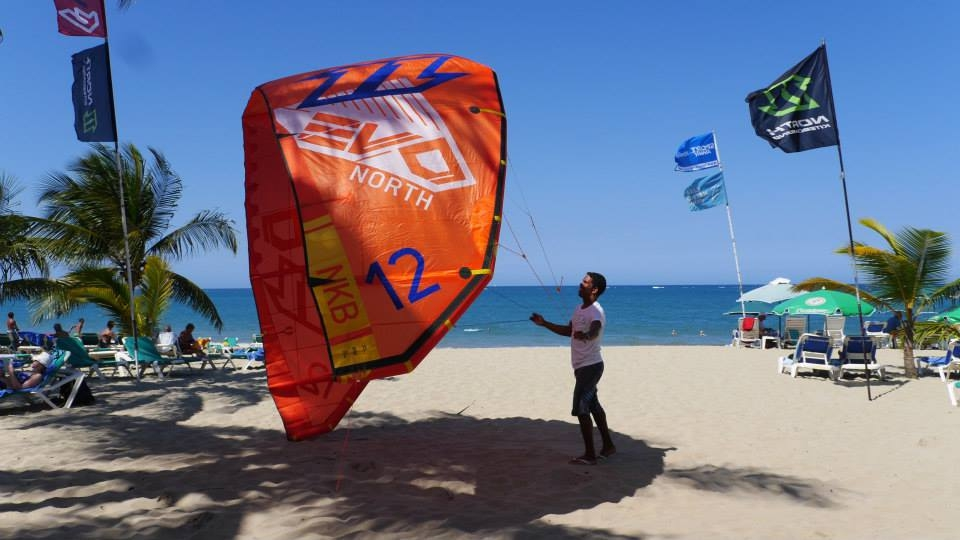 Kiter at the beach