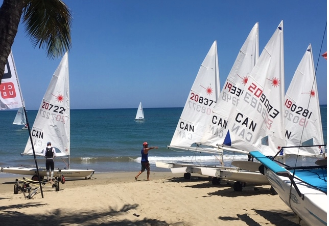 laser boats on the sand