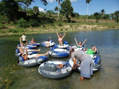 Lazy river tubing Cabarete