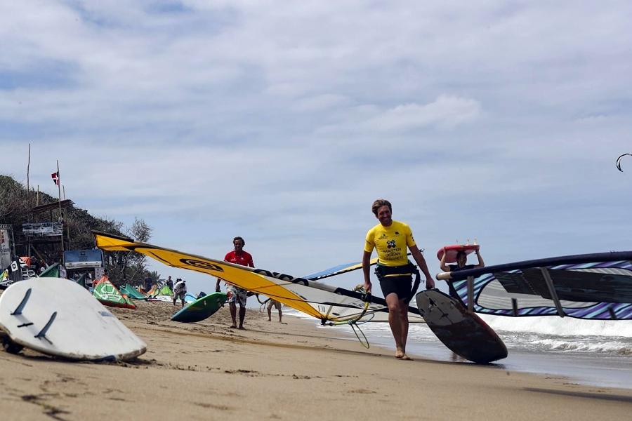 Action on the beach