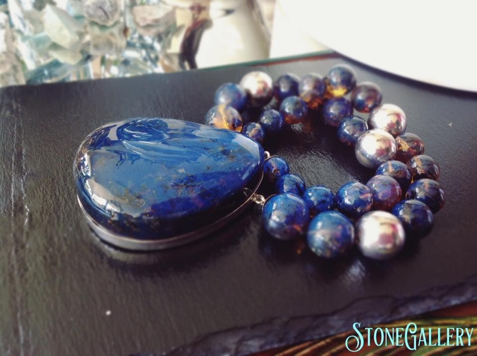 Blue Amber necklace