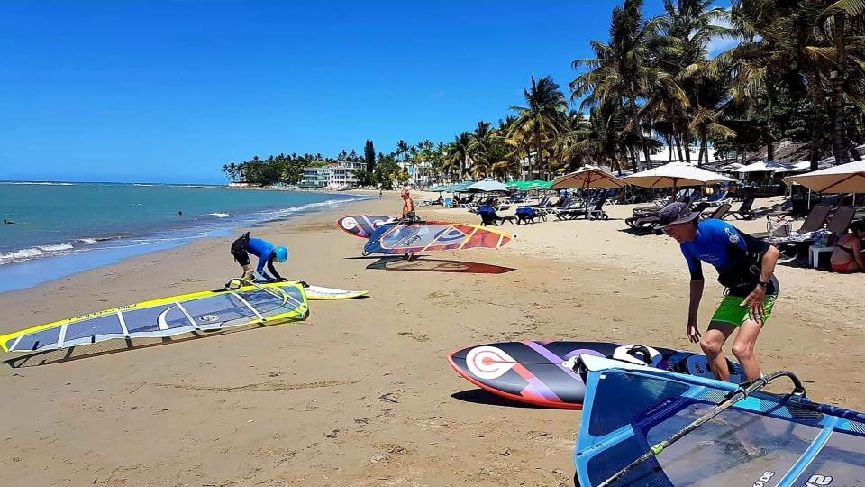 Gorgeous beach day for windsurfing