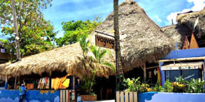 facade of Voy Voy Cabarete Beach bar and restaurant
