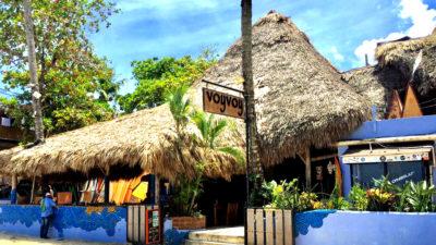 facade of Voy Voy Cabarete Beach bar and restaurant